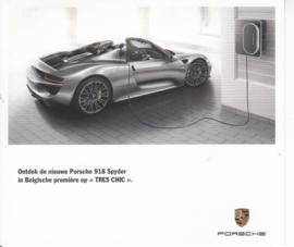 918 Spyder dealer issued postcard,  15 x 13 cm, Belgium, 2015