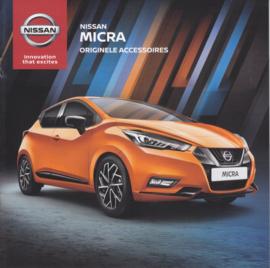 Micra accessories brochure, 16 pages, 11/2016, Dutch language
