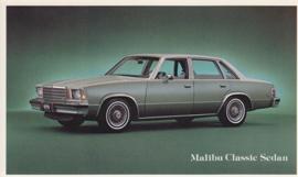 Malibu Classic Sedan, US postcard, standard size, 1979