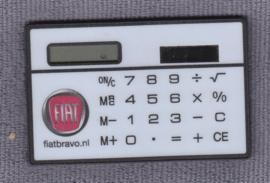 Fiat Bravo,  pocket calculator on solar power, credit card size, Dutch