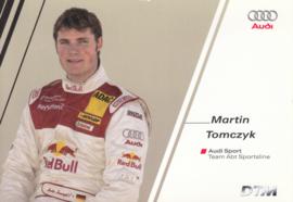 DTM racing driver Martin Tomczyk, unsigned postcard 2004 season, German language