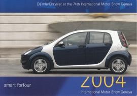 Smart Forfour, A6-size postcard, Geneva 2004