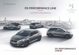 DS performance line brochure, 4 pages, 2017, German language