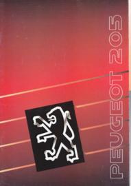 205 Hatchback brochure, 32 pages, A4-size, 1990, Dutch language