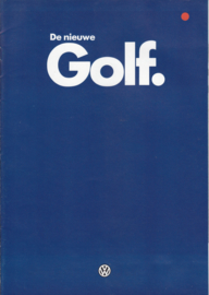 Golf brochure, 24 pages,  A4-size, Dutch language, 08/1983