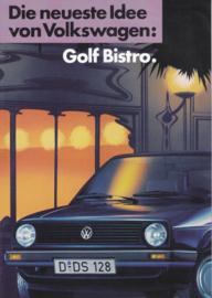 Golf Bistro brochure, A4-size, 4 pages, German language, 02/1987