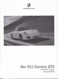 911 Carrera GTS pricelist, 98 pages, 09/2010, German
