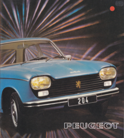 204 Sedan & Break brochure, 12 pages, square size, 07/74, Dutch language
