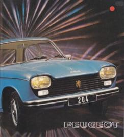 204 Sedan & Break brochure, 12 pages, square size, 07/74, Dutch language