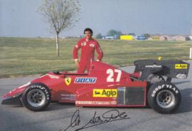 Formula One autogram postcard with driver Michele Alboreto, 1983, # 292
