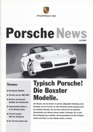 News 2/2007 with Boxster models, 20 pages, 04/07, German language
