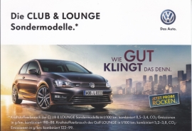 Golf Club & Lounge models postcard, DIN A6-size, German langage, 2016