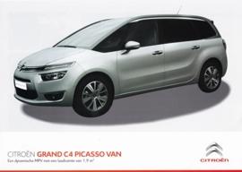 C4 Grand Picasso Van brochure, 2 pages, 2015, Dutch language