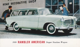 American Super Station Wagon, US postcard, standard size, 1959, # AM-59-7019D