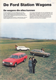 Station Wagons brochure, 8 pages, 6/1972, Dutch language
