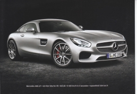 AMG GT, A6-size double postcard, issued by Dutch Autoweek magazine, 2015