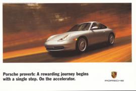 911 Carrera Coupe, large advertising card, US market, 1999, English