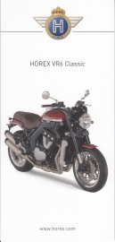Horex VR6 Classic brochure, 6 small pages, 2014, German language