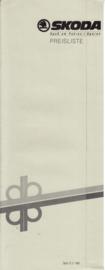Program pricelist brochure, 4 pages, German language, 08/1989