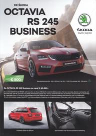 Octavia RS 245 Business brochure, 4 pages, Dutch language, 06/2017