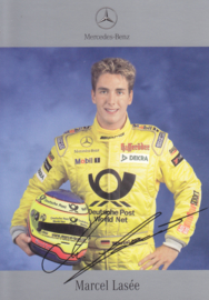 Marcel Lasée - Formula 3 - 2002 - auto gram postcard, German
