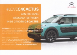 C4 Cactus trial run card,  A6-size, about 2014, Dutch language