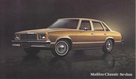 Malibu Classic Sedan, US postcard, standard size, 1978