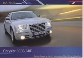 Chrysler 300 C CRD, A6-size postcard, IAA 2005