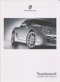Cayman S Tequipment pricelist, 28 pages, 06/2005, German