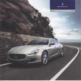 Quattroporte brochure, 21 x 21 cm size, 8 pages, German language, MY 16