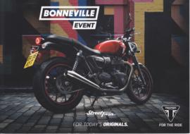 Triumph Bonneville, A5-size doublesided sheet, German language, 2016