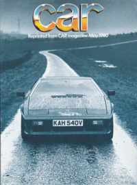 Esprit Turbo reprinted roadtest, 8 pages, DIN A4-size, CAR magazine, 05/1980, UK