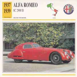 Alfa Romeo 8C 2900 B card, Dutch language, D5 019 01-08