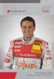 DTM racing driver Christian Abt, unsigned postcard 2005 season, German language