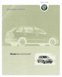 Fabia Exellent brochure, 4 pages, German language, 01/2004