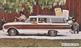 Falcon Squire Wagon, US postcard, standard size, 1962