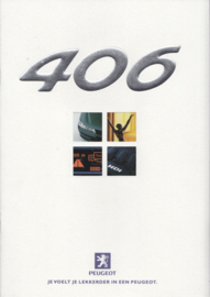 406 Sedan brochure, 28 pages, A4-size, 04/1999, Dutch language
