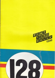 128 Rally 1300 brochure, 16 large pages (A4), 04/1972, Dutch language