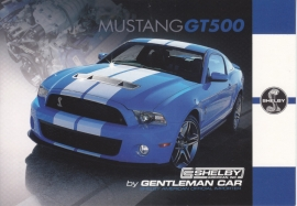 Mustang Shelby GT500 postcard,  English language, Belgian issue, about 2014