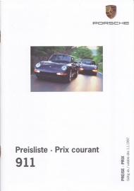 911 Pricelist Switzerland  brochure, 24 pages, 03/97, German & French