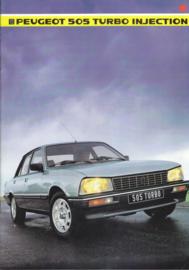 505 Sedan Turbo Injection brochure, 20 pages, A4-size, 1985, Dutch language