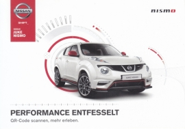 Juke Nismo postcard,  DIN A6-size, about 2014, German language