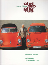Porsche Christophorus special issue for birthday Ferry Porsche, 40 pages, 1989, English language