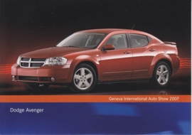 Dodge Avenger, A6-size postcard, Geneva 2007