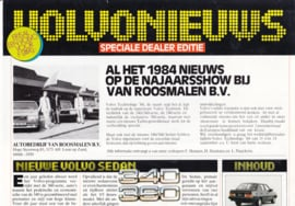 Volvonieuws newspaper brochure, 8 pages, 1984,  Dutch language