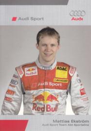 DTM racing driver Matthias Ekström, unsigned postcard 2006 season, German language