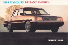 Reliant America, US postcard, continental size, 1988