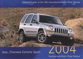 Jeep Cherokee Extreme Sport, A6-size postcard, Geneva 2004