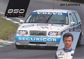 850 Racing with driver Jan Lammers, A6-size postcard, 1993, English language