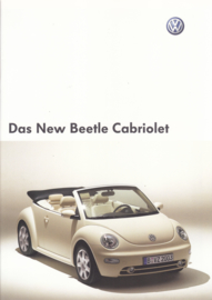 New Beetle Cabriolet brochure, A4-size, 24 pages, German language, 09/2002